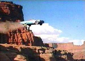 car off a cliff